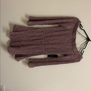 Lulus off the shoulder sweater dress